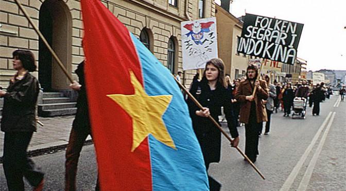 Vietnamdemonstration i Uppsala.