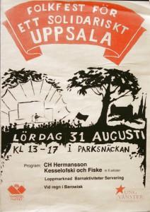 Folkfest för ett solidariskt Uppsala 31 augusti, Arr.Ung vänster