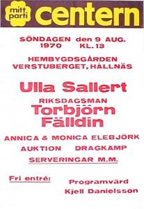 Fälldin talar i Hållnäs 9 augusti 1970