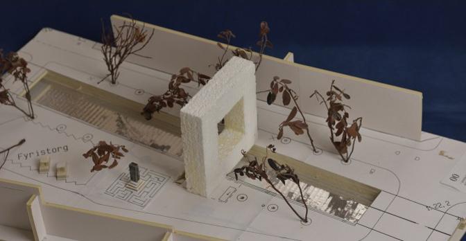 Modell över byggnaden 00.