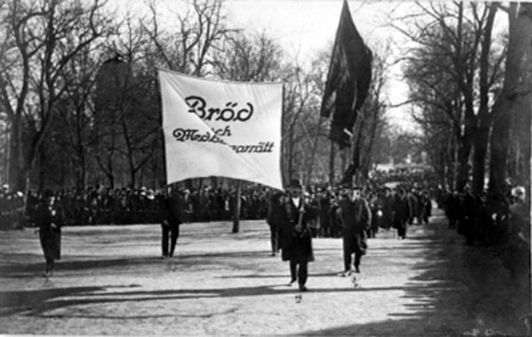 Hungerdemonstration i Uppsala, 25 april 1917